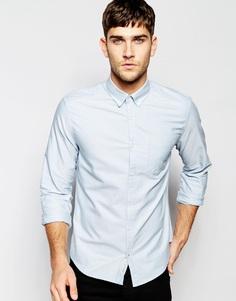 Оксфордская рубашка из хлопка Esprit - Светло-голубой
