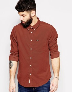 Вельветовая рубашка на пуговицах Lee - Burnt henna