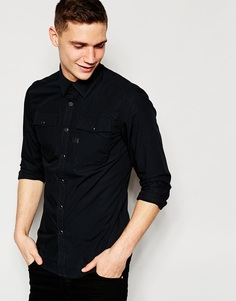 Черная поплиновая рубашка с 2 карманами G-Star Correct Landoh - Черный