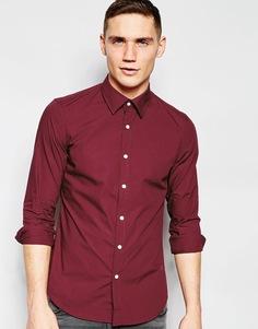 Зауженная рубашка из эластичного поплина G-Star - Винный