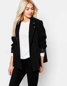 Байкерская куртка Monki - Черный