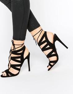 Черные сандалии на каблуке Faith Leona Ghillie - Черный