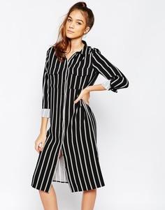Платье-рубашка в полоску Daisy Street - Мульти