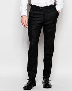 Шерстяные брюки прямого кроя Hart Hollywood by Nick Hart - Темно-синий