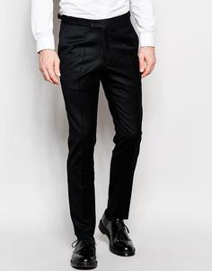Фланелевые брюки слим из 100% шерсти Hart Hollywood by Nick Hart - Черный