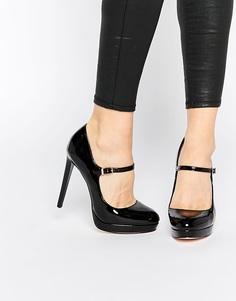 Черные лакированные туфли Faith Chrissie Mary Jane - Черный