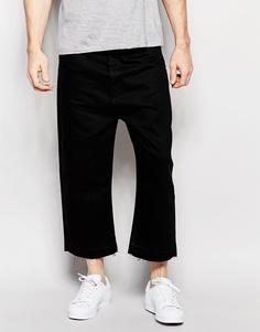 Черные широкие джинсы ASOS - Черный