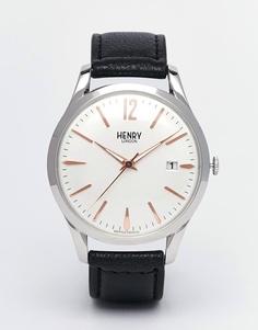 Часы с кожаным ремешком Henry London Highgate - Черный