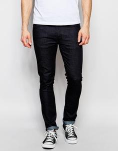 Темные джинсы слим с зауженными книзу штанинами Nudie Jeans Lean Dean - Насыщенный темный цвет