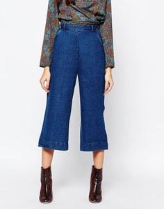 Джинсовая юбка-шорты Neon Rose - Indigo - индиго