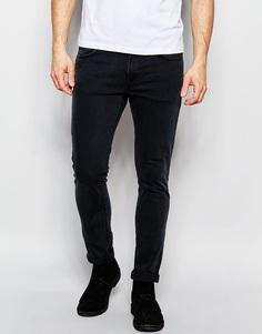 Узкие выбеленные джинсы черного цвета Nudie - Misty ridge