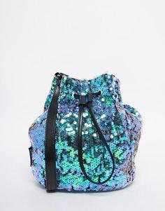 Сумка-мешок с блестящими пайетками Jaded London Mermaid - Зеленый
