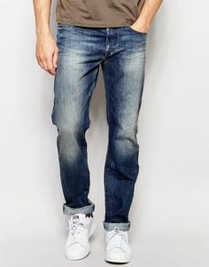 Темные выбеленные джинсы классического кроя Diesel Buster 849A - Темный винтажный