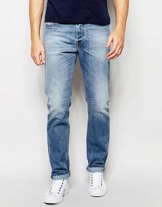 Светлые эластичные джинсы слим Diesel Buster 842H - Светлый