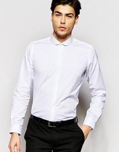 Рубашка слим с закругленным воротником Hart Hollywood by Nick Hart - Белый