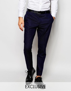 Зауженные брюки в крапинку Selected Homme - Темно-синий