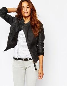 Приталенная джинсовая куртка на молнии G Star Be Raw Lynn-A - Черный