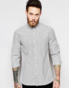 Рубашка в оксфордскую полоску YMC - Черный