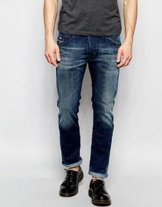 Эластичные светлые джинсы слим в винтажном стиле Diesel Belther 848Z - Темный винтажный