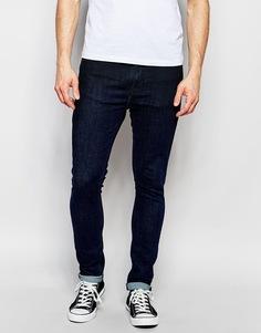 Эластичные супероблегающие джинсы Nudie Pipe Led Eclipse Blue - Eclipse