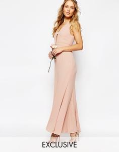 Платье макси с асимметричным краем Fame and Partners Everland - Lotus pink