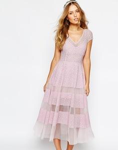 Платье-тюльпан Body Frock Wedding - Сиреневый