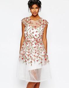 Платье с вышитыми розами Body Frock Wedding
