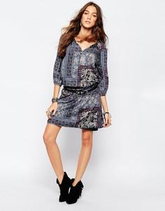 Платье-туника с принтом пейсли Esprit - Темно-синий