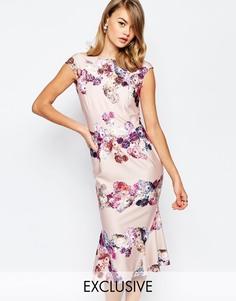 Платье-футляр с цветочным принтом True Violet - Многоцветный цветочный