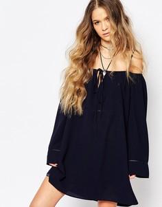 Платье с вырезами на плечах Glamorous - Темно-синий