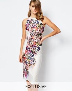 Платье миди с халтером и цветочным узором True Violet - Многоцветный цветочный