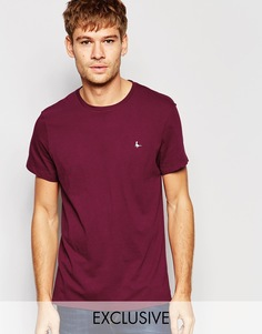 Эксклюзивная бордовая футболка с логотипом-фазаном Jack Wills - Burgundy