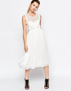 Платье миди с юбкой из тюля Navy London - Белый