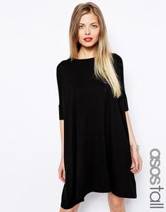 Платье-футболка ASOS TALL - Черный