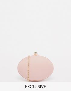 Овальный клатч светло-розового цвета Chi Chi London - Розовый