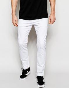 Белые эластичные джинсы слим ASOS - Белый