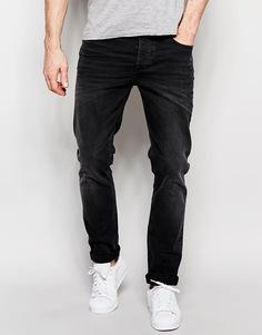 Черные выбеленные джинсы скинни плотностью 12,5 унции ASOS - Выбеленный черный