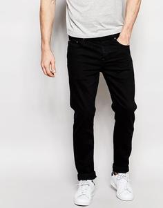 Черные джинсы слим плотностью 12,5 унции ASOS - Классический черный