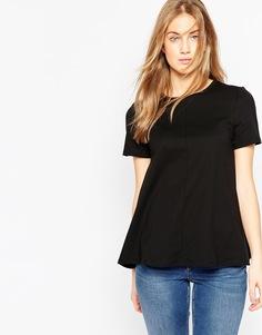 Свободная футболка ASOS - Черный