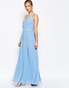 Платье макси из шифона Jarlo - Бледно-синий