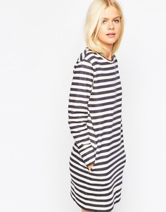 Трикотажное платье в полоску ASOS