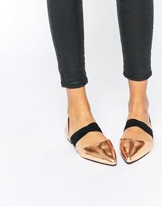 Туфли с эластичными ремешками ASOS LOGICAL - Медный металлик