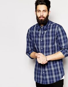Рубашка в клетку G-Star Valdo Core Rode - Серый