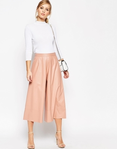 Юбка-брюки из искусственной кожи ASOS - Blush