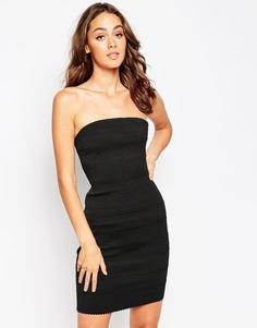 Облегающее платье-бандо Sistaglam Kim - Черный