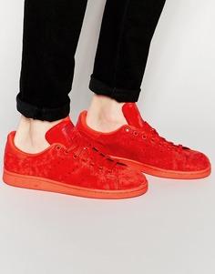 Замшевые кроссовки Adidas Originals Stan Smith - Красный