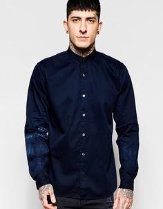 Окрашенная рубашка с маленьким воротником Lindbergh - Темно-синий