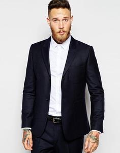 Пиджак зауженного кроя ASOS - Темно-синий