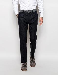 Синие твидовые брюки в крапинку Devils Advocate - Синий