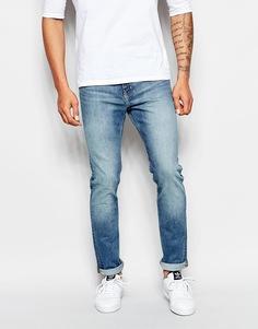 Хлопковые синие джинсы скинни Weekday Jeans Friday - Синий хлопок